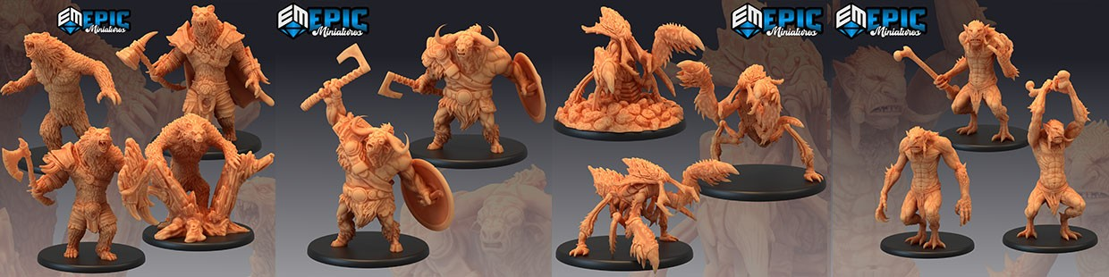 Monster Rampage de Epic Miniatures pour Warhammer 9th age, AOS, KOW,...