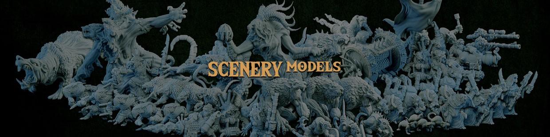 Scenery Models de la Ravenous Hordes de Resin Warfare