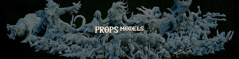 Props Models de la Ravenous Hordes de Resin Warfare