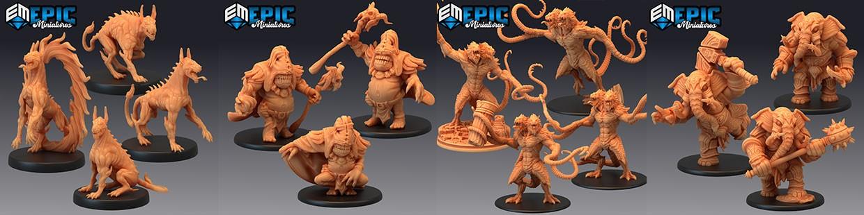 Retrouvez les Hour of Demons d'Epic Miniatures imprimés en Ameralabs par 3DMF