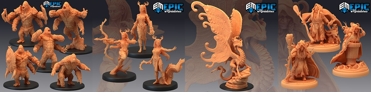 Fey Woods de Epic Miniatures pour Warhammer 9th age, AOS, KOW,...