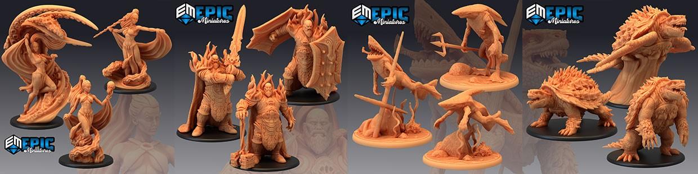 Inferno Island de Epic Miniatures pour Warhammer 9th age, AOS, KOW,...