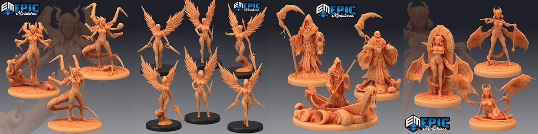 Fallen Sanctuary de Epic Miniatures pour Warhammer 9th age, AOS, KOW,...