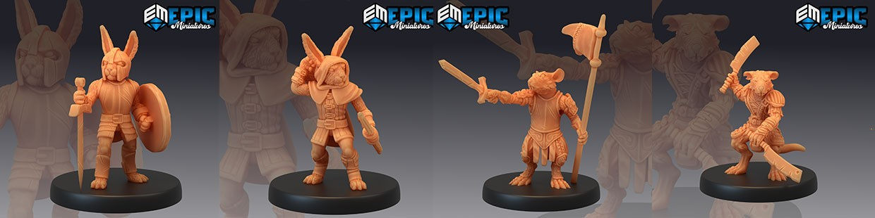 Rodent Wars de Epic Miniatures pour Warhammer 9th age, AOS, KOW,...