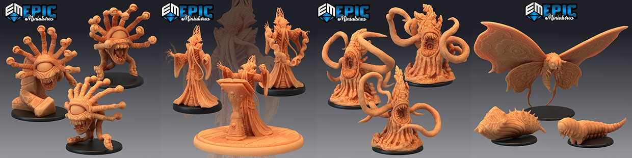 Psionic Overlords de Epic Miniatures pour Warhammer 9th age, AOS, KOW,...