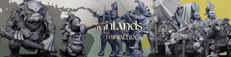 Highlands Miniatures de Heroic Fantasy pour Warhammer 9th age, AOS, KOW,...