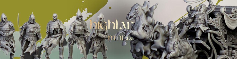 Undead de Highlands Miniatures pour Warhammer 9th age, AOS, KOW,...